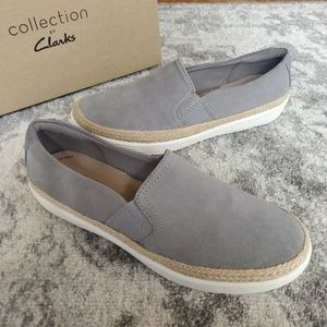 Collection by Clarks Marie Sail Grey Suede Shoes 7